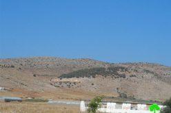 """إخطار بإخلاء  111 دونم في منطقة """" عينون"""" شرق مدينة طوباس"""