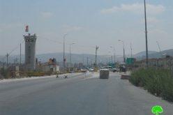 جيش الاحتلال يغلق حاجز حوارة بشكل كامل للمرة الثانية خلال مطلع شهر تموز