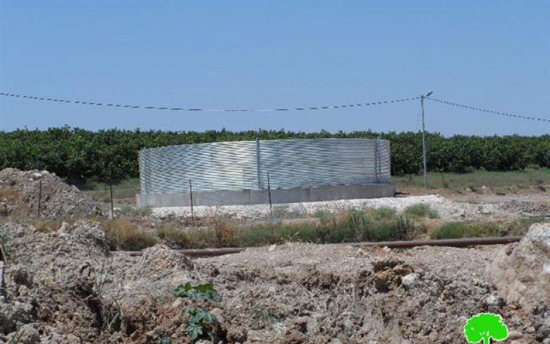 Stop-work orders on structures in the Tubas village of Ein Al-Beida
