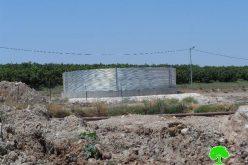إخطار عدد من المساكن  وحظائر الماشية في قرية عين البيضا  بوقف البناء