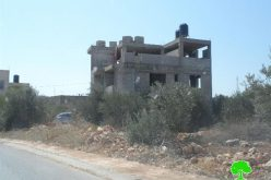 The Israeli occupation notifies structures with stop-work in Nablus