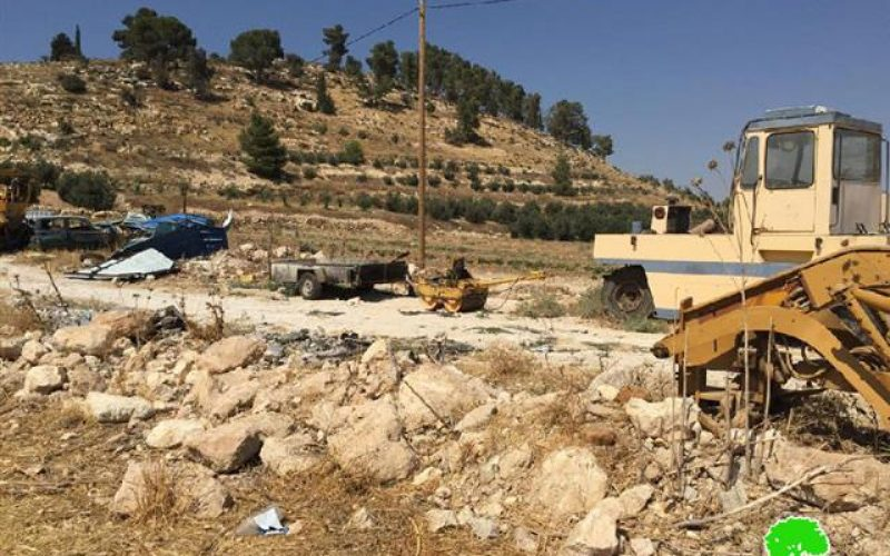 Demolition of structures in the Hebron village of Idhna