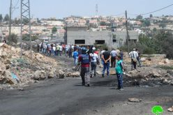 The Israeli occupation shuts down three agricultural roads in Kfar Qaddum