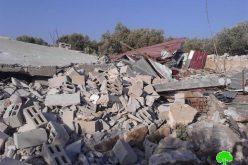Demolition of structures in the Salfit village of Deir Ballut