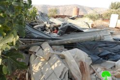 New demolitions in the northern Palestinian Jordan Valley (Al-Ghoor)