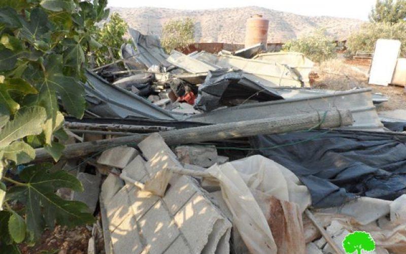 New demolitions in the northern Palestinian Jordan Valley (Al-Ghoor)