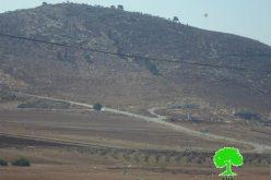 الاحتلال الإسرائيلي يصدر إخطاراً عسكرياً باستمرار وضع اليد على أراض في قرية سالم