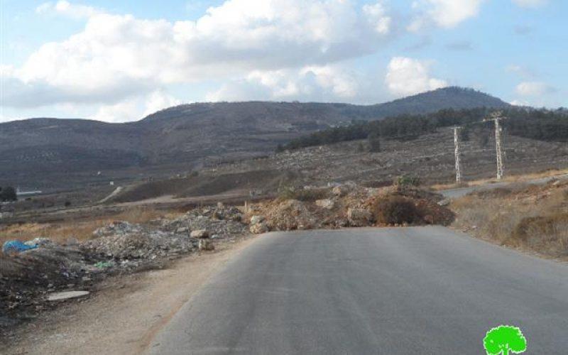 الاحتلال الاسرائيلي يغلق طريق عورتا الرئيسي