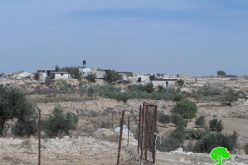 Colonists attack a house in Birin Hamlet in Bani Na'im village