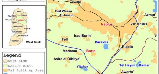 """إحراق 45 دونماً جنوب قرية بورين على يد مستعمري """"يتسهار"""""""