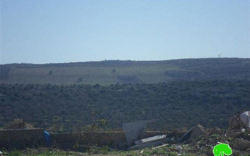 الاحتلال الاسرائيلي يشرع بإقامة نقطة مراقبة عسكرية وزراعة أراضي في منطقة ظهر صبح