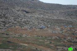 إغلاق مدخل قرية كفر مالك الشرقي بالسواتر الترابية / محافظة رام الله