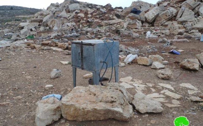 The occupation forces demolish agricultural structures in Hebron