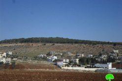 """مستعمرة """" ميراف""""  خطر حقيقي تهدد أراضي قرية جلبون الزراعية"""