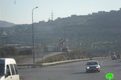 A new Israeli military base set up west Nablus city