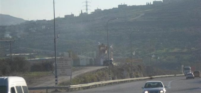 A new Israeli military base set up west Nablus city