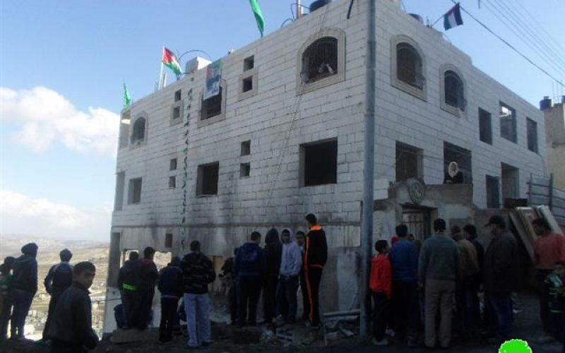 Israeli Forces demolish the residence of prisoner Raghib Ileiwi in Nablus