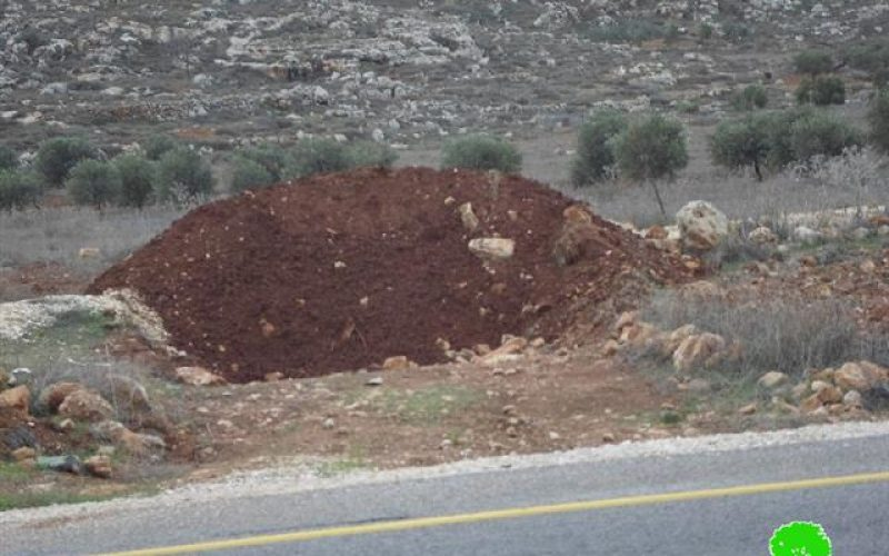 Roads blocked by earth mounds in Jourish Village