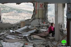 A collective punishment that left 19 residences entirely demolished and other 44 partially destroyed <br> Israeli forces pump cement into the residence of Martyr Alaa Abu Jamal in the area of Jabal Al-Mukabbir