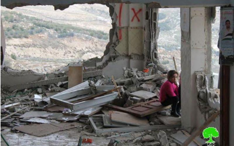 سياسة عقاب جماعي استهدفت 19 مسكنا فلسطينيا تدميرا كليا و44 مسكنا هدما جزئيا