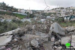 بلدية الاحتلال تهدم مسكناً قيد الإنشاء في حي عين اللوزة في بلدة سلوان جنوب المسجد الأقصى
