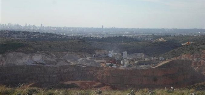 Israeli stone quarries and crushers are founded on Palestinian private lands and do continuously expand