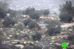 الاحتلال يمدد شبكة كهرباء في أراضي المواطنين بقرية دير العسل الفوقا