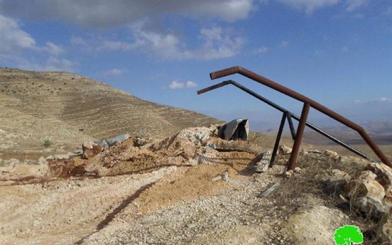 هدم عدد من المنشآت الزراعية شرق مدينة طوباس