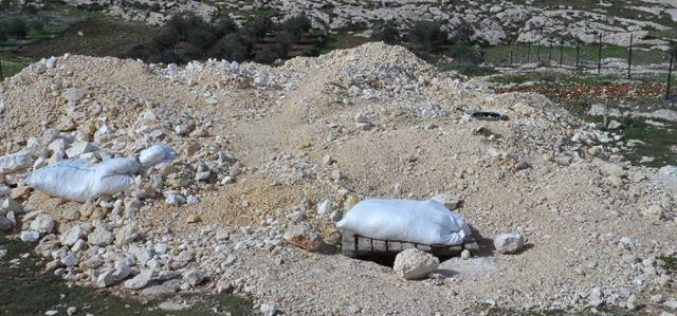 The Israeli Occupation Forces confiscate digging equipments from Khirbet Al-Mfuqara