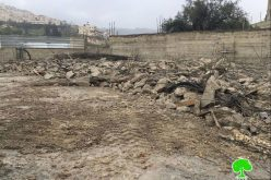 The occupation dozers demolish an under construction residence in the Jerusalem Wad Qaddum neighborhood