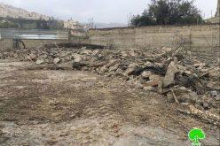 جرافات الاحتلال تهدم مسكناً قيد الإنشاء في حي واد قدوم