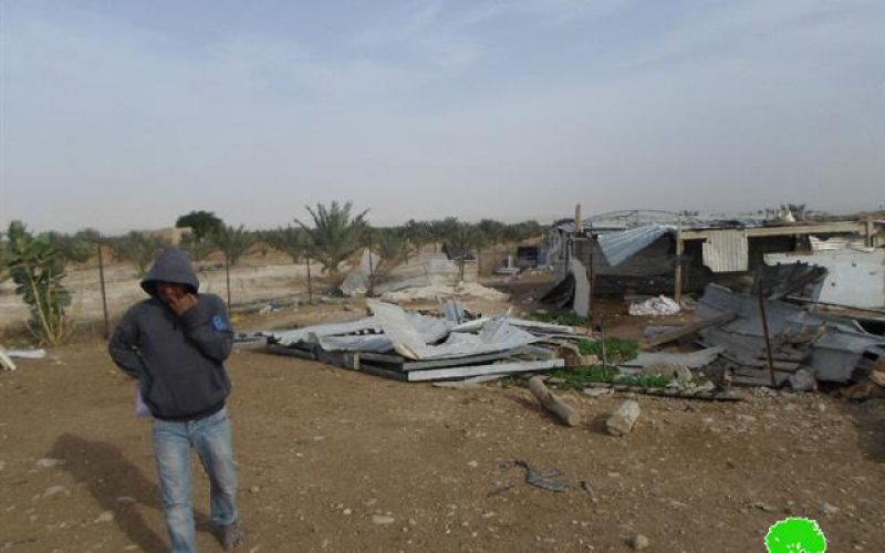 """""""Even funded and gifted by EU"""" <br> The Israeli Occupation Forces demolish residential barracks east Jericho city"""