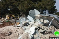 The Israeli Occupation Forces demolish Bedouin residences funded by EU