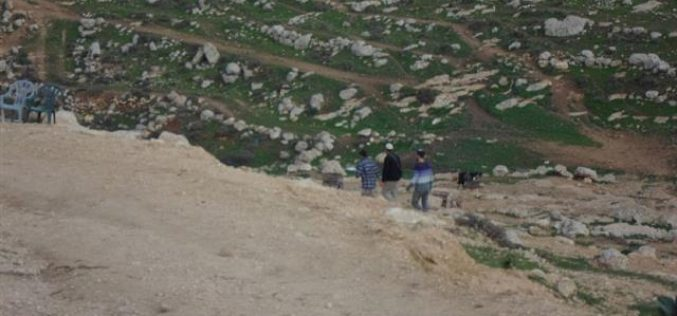 The Israeli Occupation Forces threat Ain Al-Rash-ash hamlet of demolition
