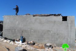 """Funded and established by the EU<br>  The Israeli Occupation Forces demolish 20 structures in Hebron hamlets of Jinba and Halawah"