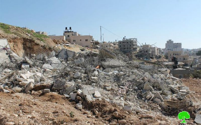 The Israeli Occupation Forces demolish residences in Jerusalem neighborhoods