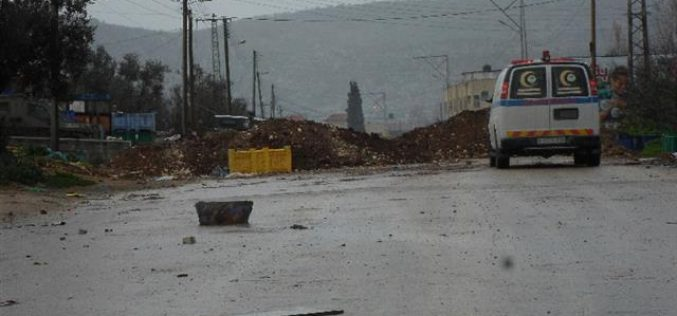 The Israeli Occupation Forces seal off all entrances of Qabatiya village in Jenin