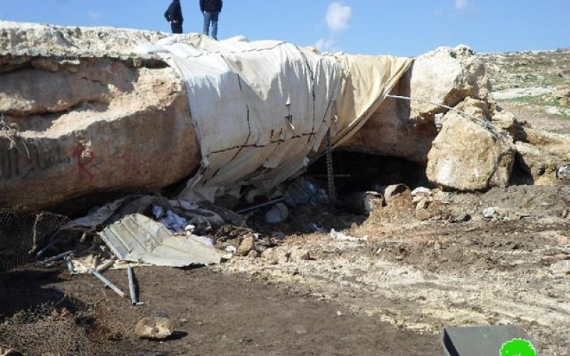"""Demolition of 17 residential and agricultural structures in the Nablus hamlet """"Khirbet"""" of Tana"""