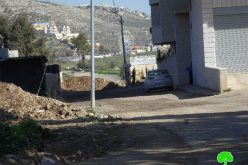 The Israeli Occupation Forces reinforce closure on the entrances of Awarta village
