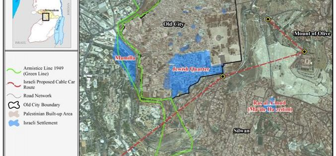 """Israeli Authorities Revived the """"Cable car"""" project  in Jerusalem city"""