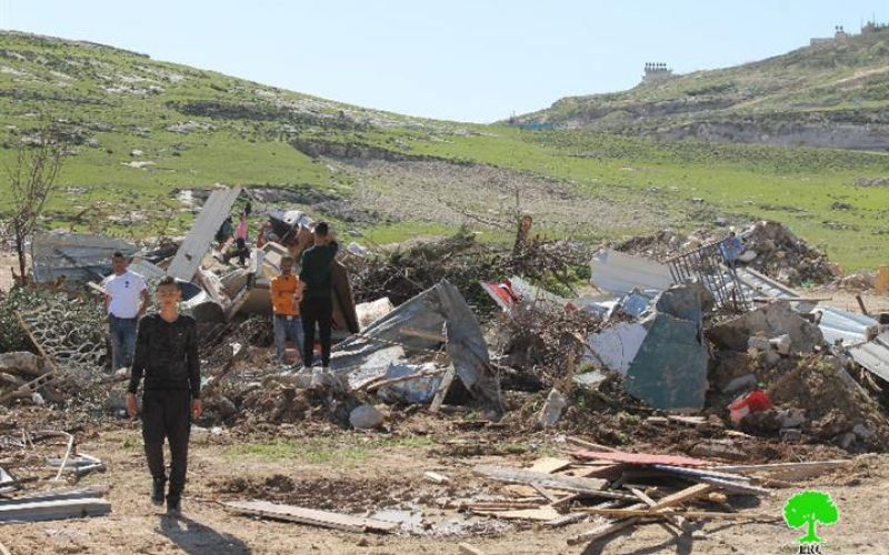 The Israeli Occupation Forces carry out a demolition and ravaging campaign in Al-Isawiya town