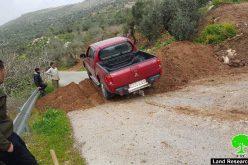 Israeli Occupation Forces seal off entrances of Nablus villages