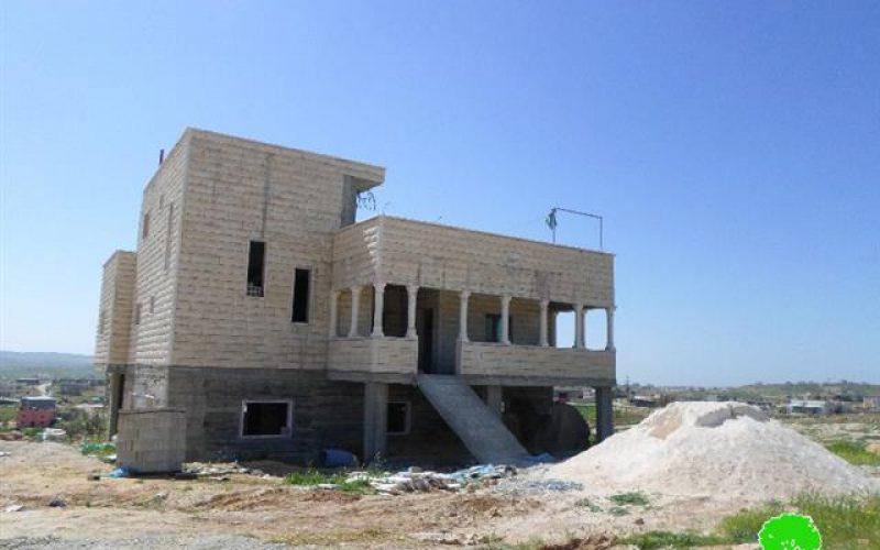 Stop-Work and demolition orders in the Yatta hamlet of Khallet Al-Mayyih