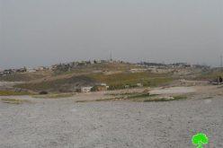 الاحتلال يستهدف تجمع بدوي آل النجوم  في منطقة واد القلط