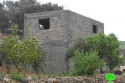 Stop-work orders in the Hebron hamlet of Khallet Al-Furn
