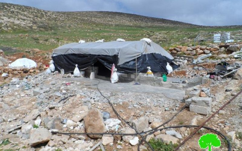 Israeli Occupation Forces demolish residential and agricultural structures in Yatta town