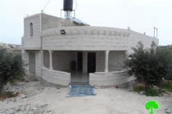 إخطارات بوقف العمل في 7 منازل ببلدة بني نعيم بمحافظة الخليل