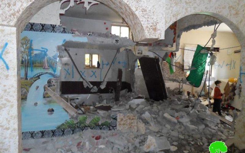 منذ بداية الانتفاضة الاحتلال هدم 26 مسكناً بذريعة الأمن <br> الاحتلال يهدم مسكن والد الشهيد إيهاب مسودة بالخليل