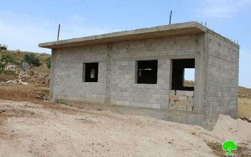 Demolition order on a residence in the Hebron village of Al-Samou