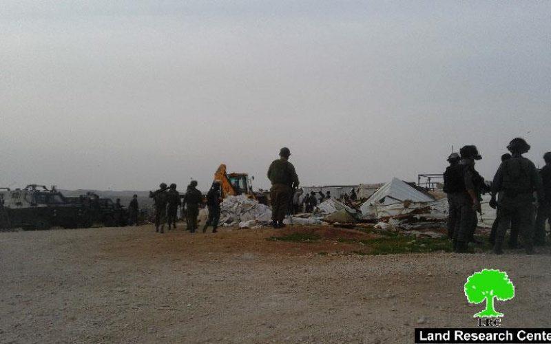 Israeli Occupation Forces demolish six residences in Um Al-Kheir hamlet